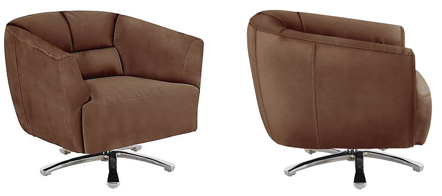 Spectrum Fabric Swivel Armchair