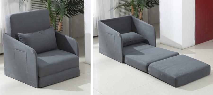 HOMCOM Single Sofa Bed