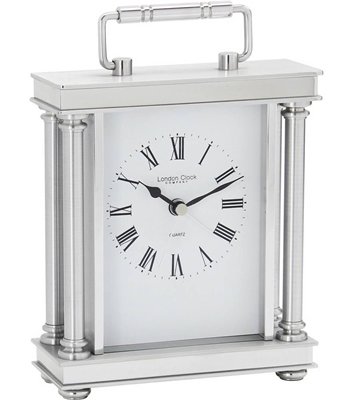 Silver Mantel Clock by London Clock
