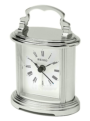 Seiko Silver Mantel Clock | QHE109S
