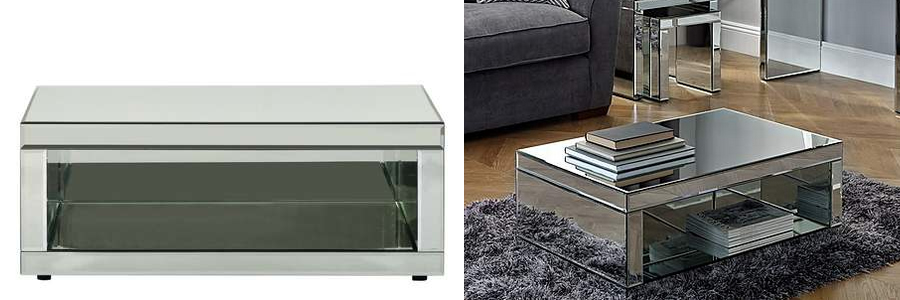 Dunelm Venetian Mirrored Coffee Table