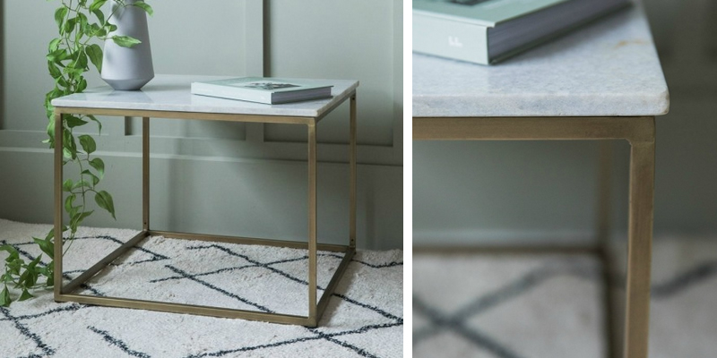 Rose & Grey Lila Square Marble Coffee Table