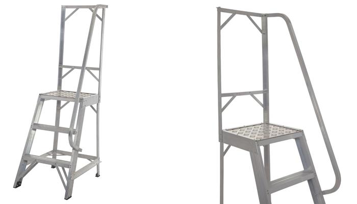Werner 3 Tread Aluminium Platform Step Ladder