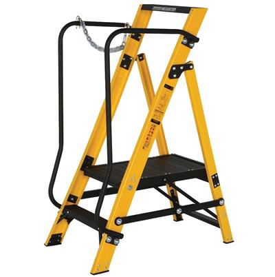 Werner 2 Tread Fibreglass Platform Step Ladder