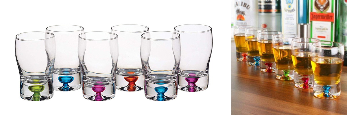 BarCraft Coloured Shot Glasses
