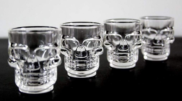 Robert Frederick Skull Shot Glasses
